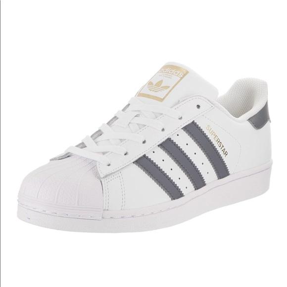 adidas superstar gray stripes